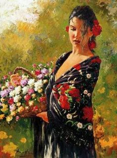 Roman Frances - gathering flowers.