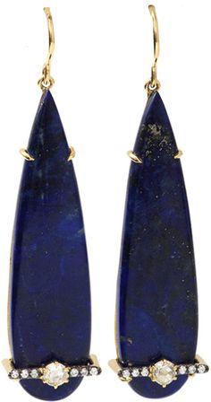 Jemma Wynne Pear Shape Lapis Earrings