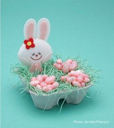 cute bunny and it looks pretty simple to make too