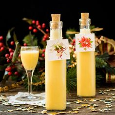Homemade German Egg Liqueur (Eierlikör) is a rich, sweet, and decadent beverage. It can also be used in baking or drizzling on cakes. Cocktails, Cocktail Recipes, Alcoholic Drinks, Beverages, Drink Recipes, Eggnog Rezept, Homemade Liquor, Liqueur, German Christmas