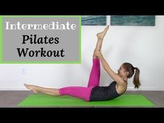 Intermediate Pilates Mat Workout - 20 Minute Pilates Exercise Routine - YouTube