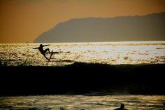 Pavones Silhouette Surfer  http://RayBlan.co