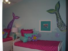 Girl's Mermaid Room - Design Dazzle- © Murals and more by Patrice