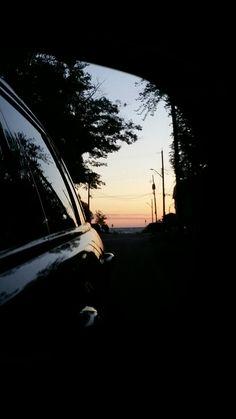 Rear view #sunset #mirror #reflection @karisaskingdom