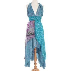 Recycled Sari Silk High Lo Maxi Dresses - various colours by Charlotte's Web | Charlotte's Web