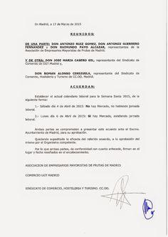 REDACCIÓN SINDICAL MADRID: Acuerdo para el calendario laboral de Semana Santa...