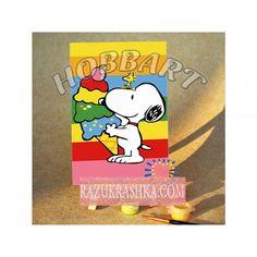 Раскраска по номерам Hobbart «Снупи. Радужный десерт». Купить за 199 р. в магазине Разукрашка.
