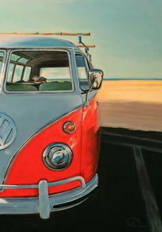 "Saatchi Online Artist Antoine Renault; Painting, ""Reach the beach"" #art"