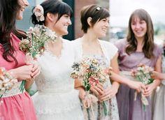 summery_vintage_mismtached_bridesmaid_dresses