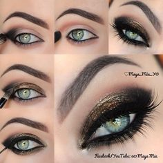 Top 10 Amazing Black Eye Makeup Tutorials - Pretty Designs