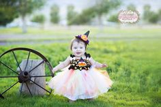 Hey, I found this really awesome Etsy listing at https://www.etsy.com/listing/199160252/cute-candy-corn-witch-tutu-dress-with