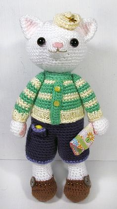lovely #amigurumi cat