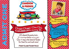 Choo Choo, Cameron is 2! | CatchMyParty.com