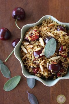 Cherry Sage Toasted Quinoa. http://www.fashionandfriends.com