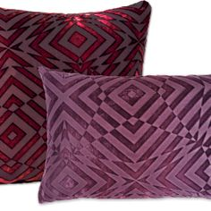 """Kevin O'Brien Studio's newest addition to their hand-painted velvet pillow line. """"Op Art""""."""