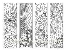 Resultado de imagen para free printable bookmarks to color for adults