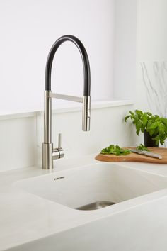 Include spray options and pull down spouts if you have a large sink for ease of cleaning.