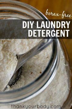 Borax-Free Laundry Detergent from www.thankyourbody.com
