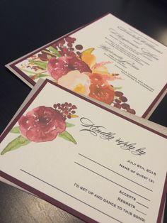 Printable Designs, Printables, Watercolor Invitations, Printable Wedding Invitations, Fall Flowers, Etsy Store, My Etsy Shop, Bloom, Anniversary