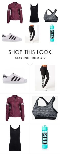 """Feeling Sporty"" by sydneynicoles on Polyvore featuring adidas Originals, NIKE and Juvia"