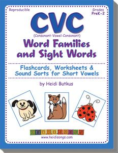 Heidisongs Resource: More Tricks for Sounding Out CVC Words, when it just doesn't stick