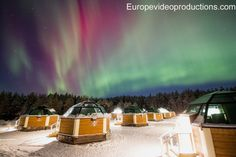 Image: Arctic Glass Igloos and Northern Lights in Rovaniemi in Finnish Lapland – aurora borealis igloo in Finland Helsinki, Aurora Borealis, Northern Lights Igloo, Santa Claus Village, Glass Cabin, Photo Voyage, Christmas Getaways, Finland Travel, Adventure Activities
