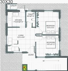 Free House Designs and Floor Plans and Modern Row House 2 Bedroom House Plans, Basement House Plans, Beach House Plans, Luxury House Plans, House Floor Plans, House Plans One Story, Story House, Small House Plans, Free House Design