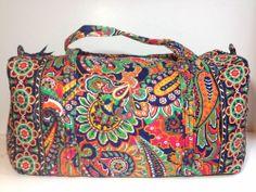 New Vera Bradley Large Duffel Bag VENETIAN PAISLEY Pattern