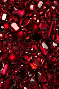 Red ~ DOLCE & GABBANA Crystal Embellished Tulle