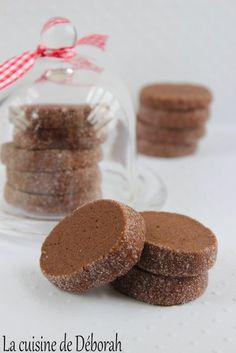Sablés au chocolat. Des sablés diamant au chocolat, friable et très gourmands, recette tirée du livre de la Maison du chocolat!
