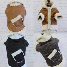 Clothing for Dogs Suede Warm Winter Hoodie Small Dog Clothes Cat Pet Coat Dog Coat Harness Jacket XS S M L XL #Affiliate