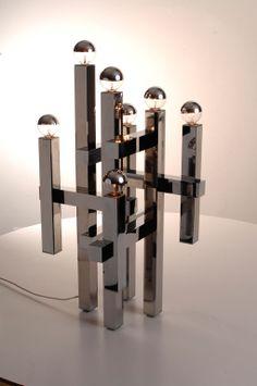 60s Italian table lamp by Gaetano Sciolari image 4