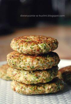 Fit kotleciki drobiowe z kaszą i brokułami Veggie Recipes, Healthy Dinner Recipes, Diet Recipes, Vegetarian Recipes, Cooking Recipes, Vegan Dishes, Healthy Cooking, Food Inspiration, Food To Make