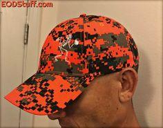 3b35e4d95efee Orange Digital Camouflage Skeebb Hat - EOD Hats