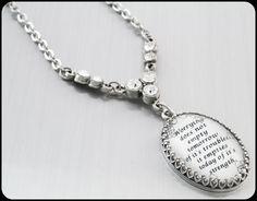 Inspirational Pendant Motivational Jewelry by BlackberryDesigns, $68.00