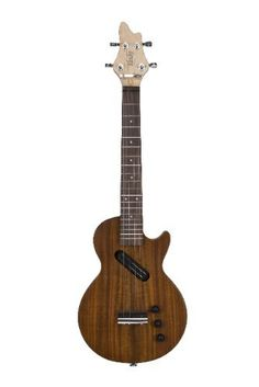 NEW!! Eleuke Ukulele Tenor Les Paul Style Electric Steel String Solid Body Cutaway, Acacia Wood:Amazon:Musical Instruments