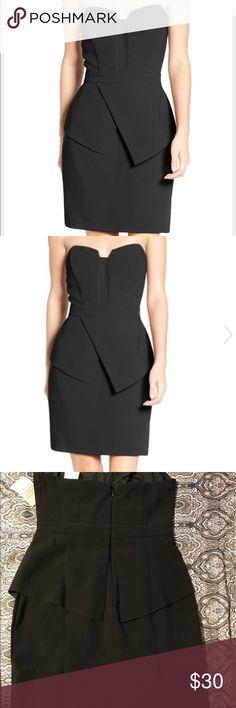 NWT black Adelyn Rae strapless dress Black strapless peplum dress Adelyn Rae Dresses