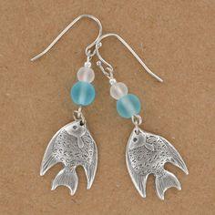 Sadie Green's Sea Glass Fish Earring