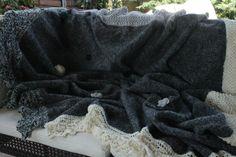 Coperta fondo letto: stoffa e maglia