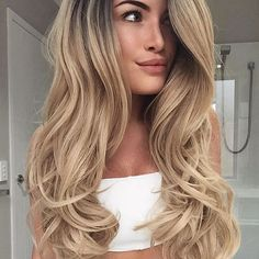 Waves for days. Long hair blow out. #ellablissbeautybar #blowoutideas
