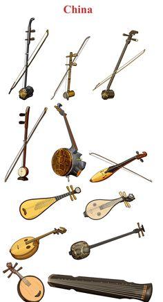 CHINA I (Left/Right, Up/Down) 1.-ERHU: chordophone / bowed string instrument. 2.-Jing Hu: chordophone / bowed string instrument  3.- Zhuiqin: chordophone / bowed string instrument 4.- banhu: chordophone / Bowed string instrument 5.- Gefu: chordophone / Bowed string  instrument 6.- Niutuiqin: chordophone / bowed string instrument 7.- Pipa: chordophone / lute family 8.- Liuqin: chordophone / lute family 9.- Ruanxian: chordophone / lute family 10.- Sanxian: chordophone / lute family 11…