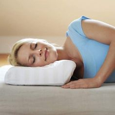 CONTOURED CERVICAL ORTHOPEDIC PILLOW WITH MEMORY FOAM