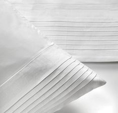Linen Plissee White, Percale Cotton Bed Linens, designed by Nicky Dobree. Heaven we tell you, heaven. You won't want to get out of bed. Why not treat yourself this winter. In stock today. Bed Linen Design, Bed Design, House Design, Linen Bedding, Bed Linens, Kent Homes, Luxury Sheets, Egyptian Cotton Bedding, Getting Out Of Bed