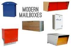 Our mailbox is ugly and falling apart.  Here's some handsome ones.