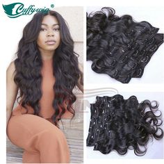 Clip In Hair Extensions Body Wave 100% Unprocesse Virgin Human Hair Clip In Hair | Health & Beauty, Hair Care & Styling, Hair Extensions & Wigs | eBay!