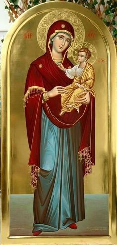The Theotokos and the Christ Child Religious Pictures, Religious Icons, Religious Art, Religion, Virgin Mary, Writing Icon, Church Icon, Mama Mary, Russian Icons