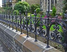 Wrought Iron Fences Terrace terrace cast iron fencing limited stock heritage cast Source: website roof terrace railings titan forge So. Cast Iron Railings, Cast Iron Fence, Metal Railings, Victorian Gardens, Victorian Terrace, Victorian Homes, Victorian Townhouse, Victorian Era, Garden Railings