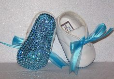 Baby Bling Shoes : Rhinestone Baby Shoes : Crystal Baby  ;) So making these for baby when we baptize him