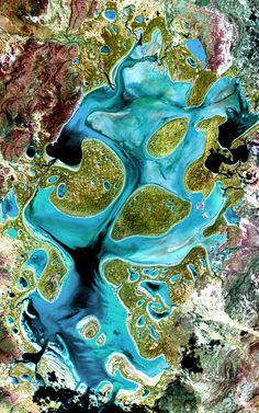 Lake Carnegie, Western Australia |  NASA's Earth Observatory Ephemeral Lake Carnegie, in Western Australia, fills with water only during periods of significant rainfall. In dry years, it is reduced to a muddy marsh.  This image was acquired by Landsat 7's Enhanced Thematic Mapper plus (ETM+) sensor on May 19, 1999. This is a false-color composite image made using shortwave infrared, infrared and red wavelengths. The image has also been sharpened using the sensor's panchromatic ...