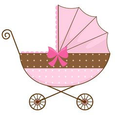 baby clipart girl cute pink baby carriage free clip art family rh pinterest com baby stroller clipart baby stroller clipart black and white